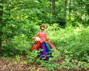 scary clown tutu skirt little kids girl child size 12m 2t 3t 4t 5 6