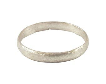 Authentic Ancient Viking Ring Wedding Band  C.900A.D. Size 9 1/2. 19.4mm inner diameter. Band is 3.1mm wide.  (am19)