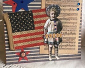 Star Spangled Banner~~~  Paper Doll~~~ Patriotic Decor or Greeting Card~~~ 4th of July ~~~~