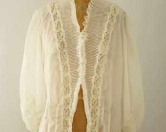 1930s blouse | vintage 30s sheer top