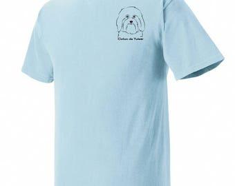 Coton de Tulear Garment Dyed Cotton T-shirt