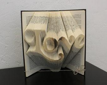 Love - Folded Book Art