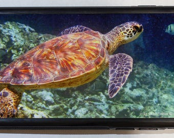 iPhone 6 Cell Phone Case Cover w/ Underwater Hawaiian Sea Turtle
