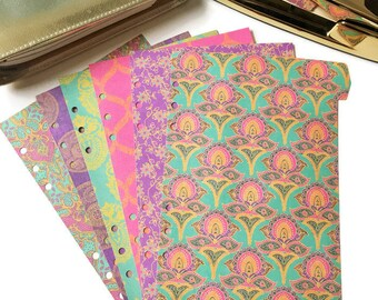 Planner Dividers / A5 or Personal Planner Dividers / A5 Dividers / Personal Dividers / Bohemian Dividers / Bright Dividers / Neon Dividers
