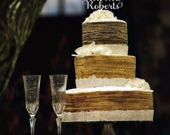 Personalised Cake Topper, wedding cake topper, acrylic cake topper, wood cake topper, elegant cake topper australia, mr & mrs cake topper,