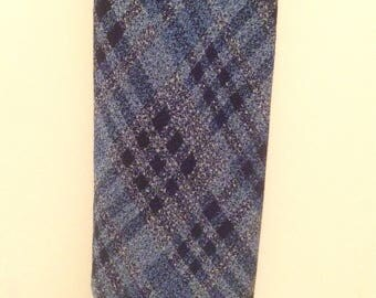 Vintage 1930s Mens Blue Argyle Tootal Necktie
