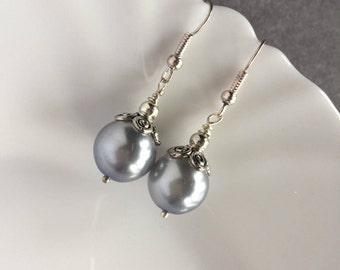 Purple Bridal Earrings, Bridal Earrings, Bridal Jewelry, Vintage Wedding, Vintage Earrings, Wedding Jewelry Pearl Jewelry, Vintage Style