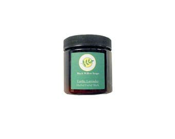 Earthy Lavender Herbal Clay Mask, 4 ounces Face Mask, Facial Mask, Mud Mask, Detox Mask, Natural Face Mask, Mask, Skin Care, Natural Skin