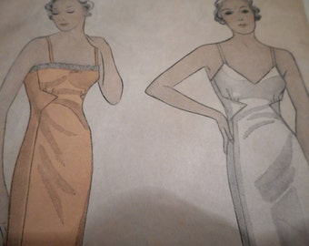 Vintage 1930's Simplicity 1403 Slip Sewing Pattern Size Bust 36