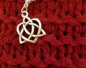 Pewter stitch marker/progress keeper - celtic heart