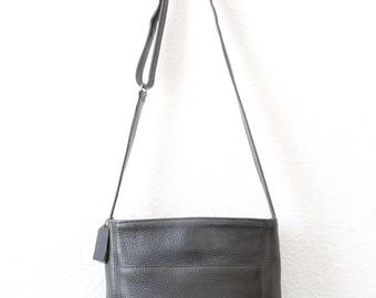 Vintage COACH pebble leather blue gray purse bucket bag