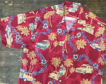 Car Print Hawaiian Shirt