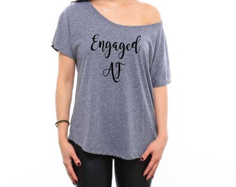 Bride Shirt | Bachelorette Party | Bridal Shower | Bride Gift | Bride Shirts | Custom Shirt | Fiance Shirt | Engaged AF | Engagement Gift