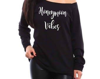 Honeymoon Shirts, Just Married Shirts, Honeymoon Gift, Wedding Gift, Bridal Shower Gift, Wifey Shirt, Mrs Shirt, Newlyweds, Honeymoon Vibes