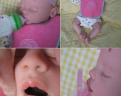 OPEN Mouth reborn baby, Holds full pacifer, Faux formula bottle, Ready to ship!