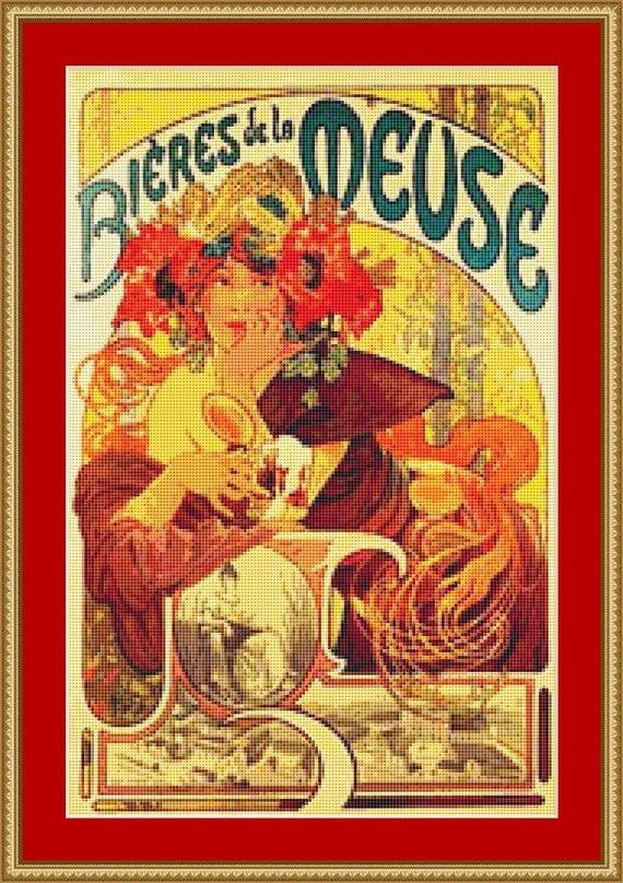 Bieres De La Meuse Cross Stitch Pattern /Digital PDF Files /Instant downloadable