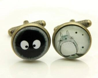 Cufflinks Totoro and soot ball (1616)
