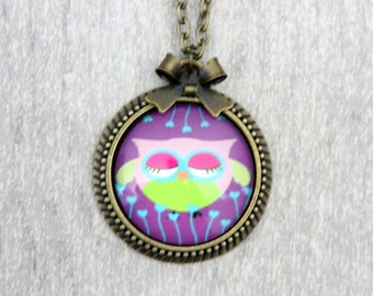 Owl Necklace, 2525C