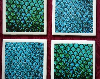 Mermaid Scales Coasters