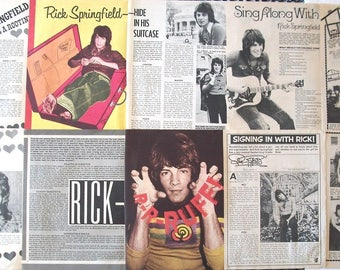 RICK SPRINGFIELD ~ General Hospital, Jessie's Girl, Don't Talk To Strangers, Noah Drake ~ Color and B&W Articles from 1972-1973 - Batch 1