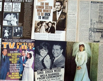 LAWRENCE WELK ~ The Lawrence Welk Show, The Lennon Sisters, Bobby Burgess, Sandi Jensen ~ Color and B&W Clippings, Articles from 1969-1970