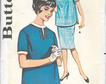 "Vintage 1961 Butterick 9844 Misses Two-Piece Maternity Dress Sewing Pattern Size 16 Bust 36"" UNCUT"