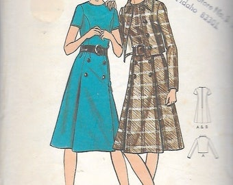 "Vintage 1970's Butterick 6324 Women's Dress & Jacket Sewing Pattern Size 42 Bust 46"" UNCUT"