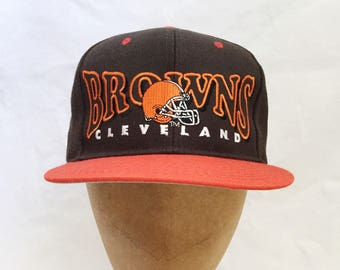 vintage cleveland browns snapback drew pearson deadstock NWT adult OSFA 90s