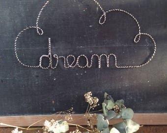 Cloud dream wire silver lurex