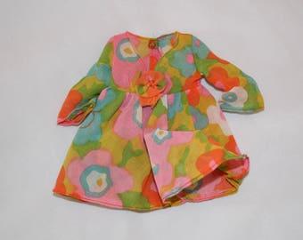 Vintage Barbie 1960s Groovy Floral Dress