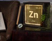 Edison Lightbox | Periodic Element | Light Box | Table Lamp | Desk Lamp | LED | Lamp | Chemical Elements | Science | Zinc
