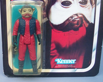 Vintage Star Wars Japanese Nien Nunb (MOC) Mint on Card Unpunched Very Rare