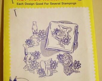 Aunt Martha's Hot Iron Transfers 3649 Early American Motifs, Vintage Embroidery Pattern, Linen Motifs