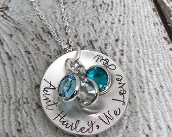 Aunt Jewelry, Gift for Aunt, Aunt Necklace, Aunt Gift, Auntie Gift, Gift for Auntie, Personalized Jewelry, Necklace for Aunt