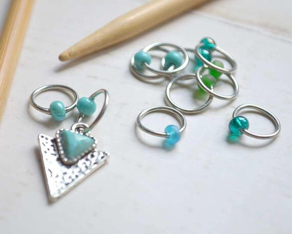 Knitting Stitch Markers -  Arrowhead - Snag Free - Made to order in your choice of 4 sizes