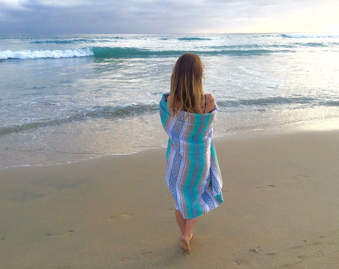 Driftwood Ridge Blanket/ Falsa Blanket / Mexican Blanket Fabric / Throw Blankets / Mexican Blankets/ Textiles / Sea Gypsy Blanket