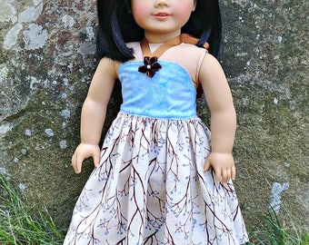 "Blue Sundress -- Seconds -- American Made to Fit Your 18"" Girl Doll"