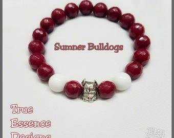 Men's Sumner Alumni Bulldog Bracelet Made With Jade
