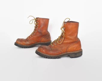 Vintage 80s Red Wing BOOTS / 180s Women's Irish Setter Work Hunting Boots 8