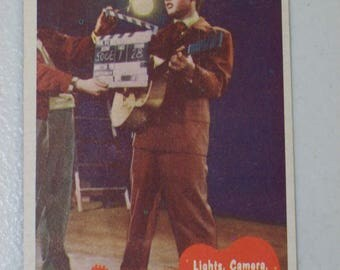 Antique  1956 Elvis Presley Trading Card Lights Camera Action, No. 39, Elvis with Guitar, Bubbles Inc.