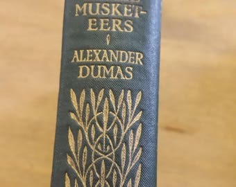 1910 The Three Musketeers - Alexandre Dumas -  Hardcover Book