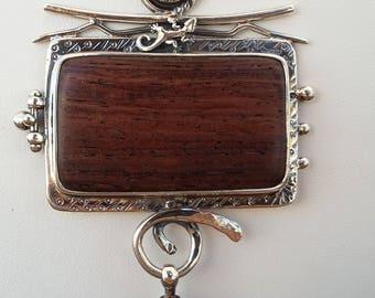 iron wood pendant