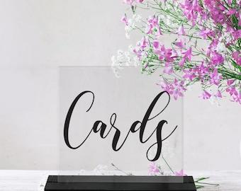 Cards/Wedding Sign/Acrylic/Card Table/Reception