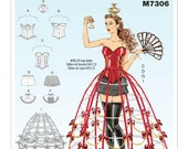 McCall's M7306 Corsets, Shorts, Collars, Hoop Skirts and Crown Costume Sewing Pattern