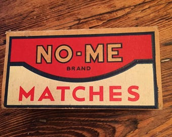 NO-ME Brand Matches - Large Vintage Advertising Box of Full of Stick Matches for the home. St. Louis, MO
