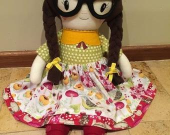 """OOAK Cloth Doll 22"""""""