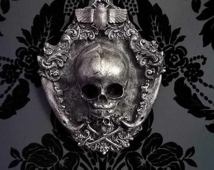 Resin Cast Fetus Skull Wall Plaque