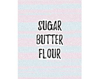 Waitress Musical: Sugar, Butter, Flour 8x10