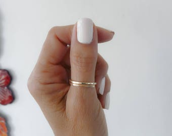 Gold Filled Thumb Ring Hammered Ring Thumb Ring Women Rings Handmade Jewelry