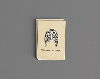 You Stole My Heart Love Card or Print